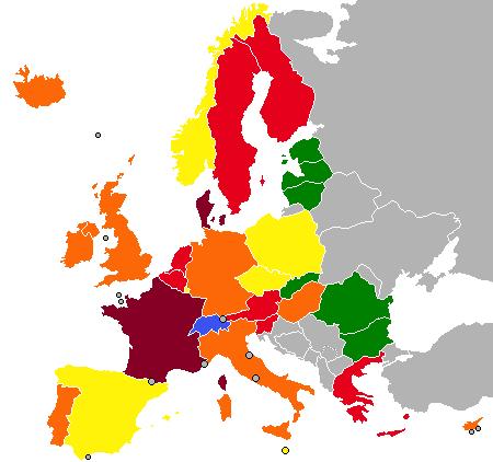 Public spending in Europe in 2008